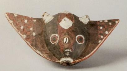 Masque poisson-lune Bobo Burkina Faso